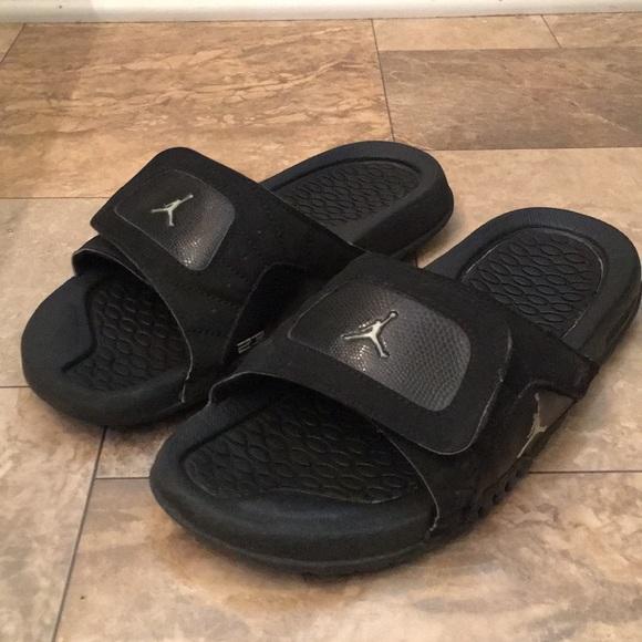 32b830e8283b16 Jordan s 23 Unisex Black Leather Sport Sandals. M 5ad66de09a9455d9e40870fd